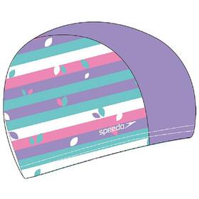 speedo Printed Polyester Bonnet, galinda/hard candy/marine blue